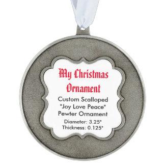 Mi ornamento de encargo del estaño del navidad, adorno ondulado