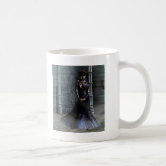 Mi ~ oscuro de la señora 02 por completo taza básica blanca