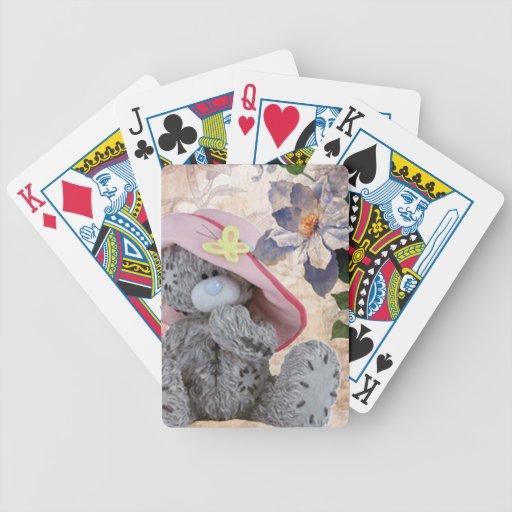 Mi oso de peluche barajas de cartas