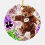 Mi oso de peluche ornamentos de reyes magos