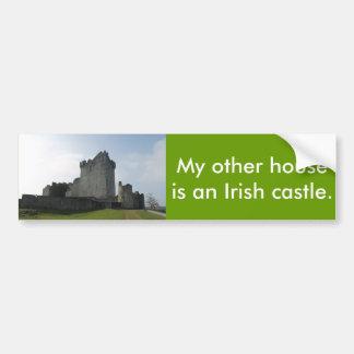 Mi otra casa es un castillo irlandés pegatina para auto