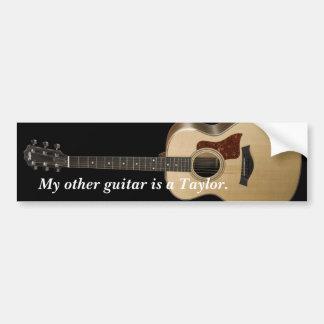 Mi otra guitarra es un Taylor. Pegatina Para Auto