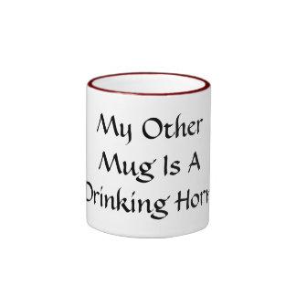 Mi otra taza es un cuerno de consumición