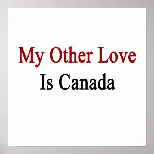 Mi otro amor es Canadá Posters