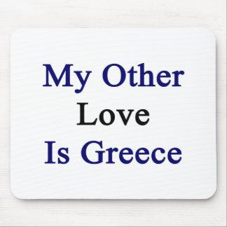 Mi otro amor es Grecia Alfombrillas De Ratones