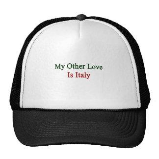 Mi otro amor es Italia Gorras De Camionero