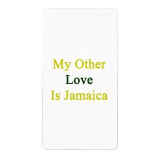 Mi otro amor es Jamaica Etiqueta De Envío