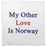 Mi otro amor es Noruega Servilletas Imprimidas