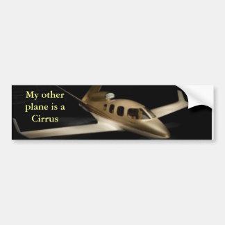 Mi otro avión es un cirro pegatina para auto