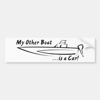 ¡Mi otro barco es un coche! Pegatina De Parachoque