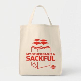 Mi otro bolso es un Sackful Bolsa Tela Para La Compra
