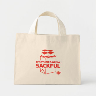 Mi otro bolso es un Sackful Bolsa Tela Pequeña