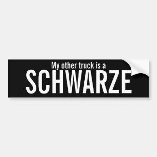 Mi otro camión etiqueta de parachoque