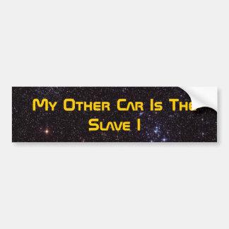 Mi otro coche es el esclavo I Etiqueta De Parachoque