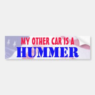 Mi otro coche es Hummer Pegatina De Parachoque