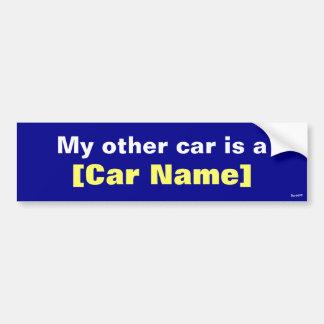 Mi otro coche es… Marina de guerra Pegatina De Parachoque