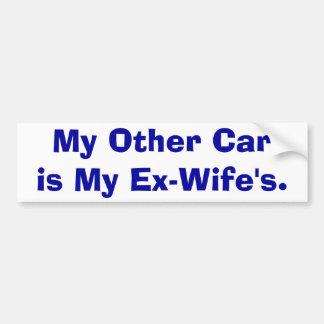 Mi otro coche es mi exmujer pegatina para auto