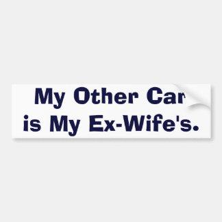 Mi otro coche es mis Ex-Esposas Pegatina Para Auto