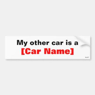 Mi otro coche es… pegatina de parachoque