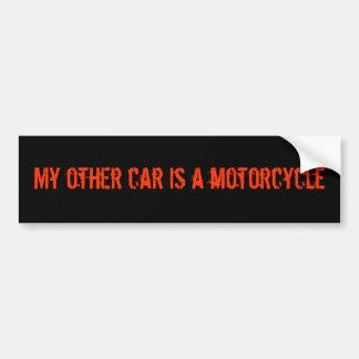 Mi otro coche es pegatina para el parachoques de l etiqueta de parachoque