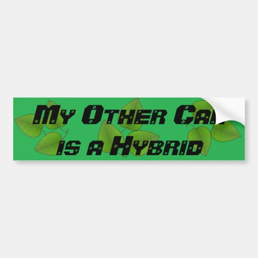 Mi otro coche es pegatina para el parachoques verd pegatina de parachoque