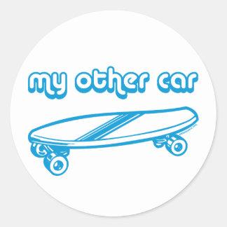 Mi otro coche es pegatinas de un monopatín