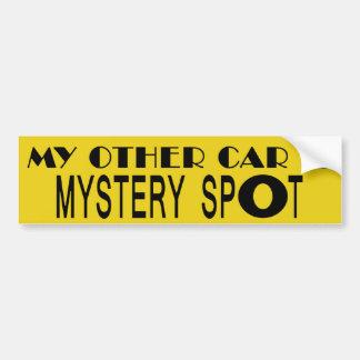 Mi otro coche es punto del misterio pegatina para auto