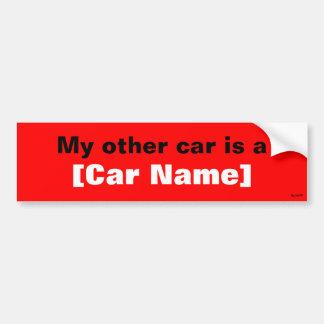 Mi otro coche es… (Rojo) Pegatina Para Auto