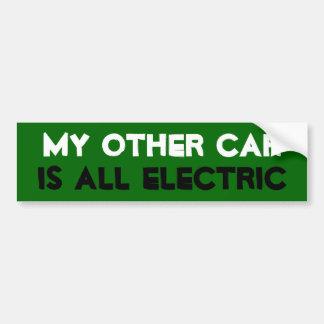 Mi otro coche es todo eléctrico pegatina de parachoque