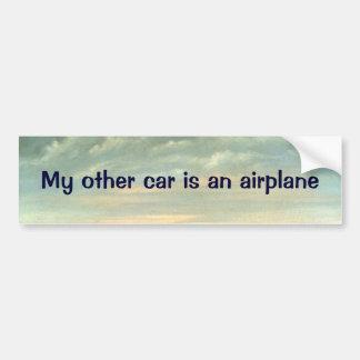 Mi otro coche es un aeroplano - pegatina para el pegatina para auto