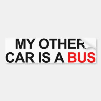 Mi otro coche es un autobús etiqueta de parachoque