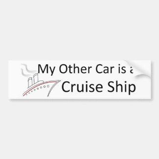 Mi otro coche es un barco de cruceros pegatina de parachoque