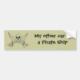 Mi otro coche es un barco pirata pegatina para auto