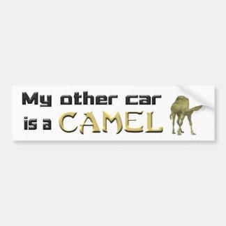Mi otro coche es un camello etiqueta de parachoque