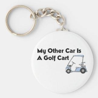Mi otro coche es un carro de golf llavero redondo tipo pin