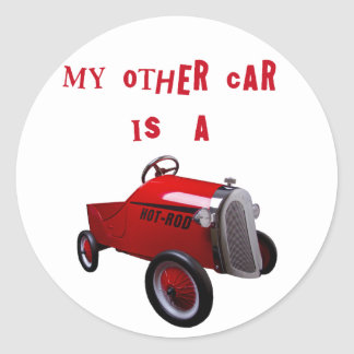 Mi otro coche es un coche de carreras pegatina redonda