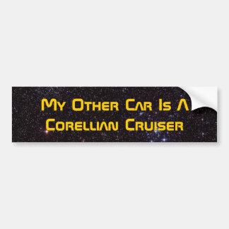 Mi otro coche es un crucero de Corellian Pegatina De Parachoque