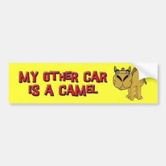 Mi otro coche es un dibujo animado de Schnozzle de Pegatina De Parachoque