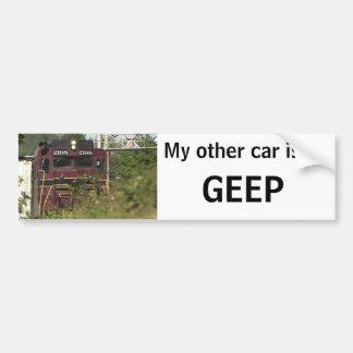 Mi otro coche es un GEEP Etiqueta De Parachoque