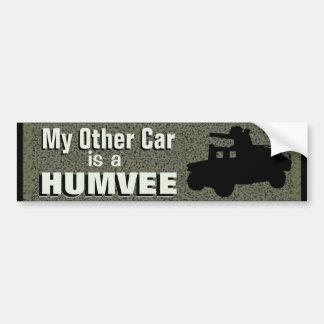 Mi otro coche es un Humvee Etiqueta De Parachoque
