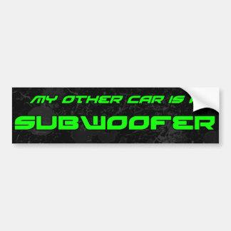Mi otro coche es un subwoofer pegatina de parachoque