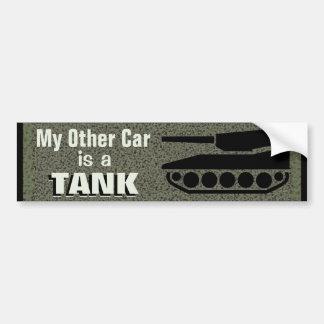 Mi otro coche es un tanque divertido pegatina para auto