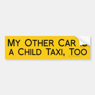 Mi otro coche es un taxi del niño divertido para l pegatina de parachoque