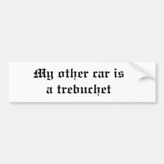 Mi otro coche es un trebuchet pegatina para auto