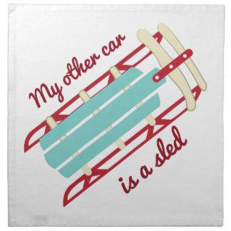 Mi otro coche es un trineo servilleta imprimida