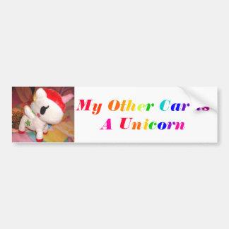 Mi otro coche es un unicornio pegatina para auto