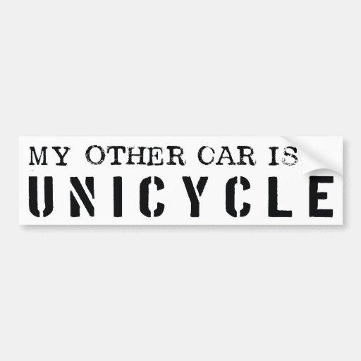 Mi otro coche es un Unicycle Pegatina Para Auto
