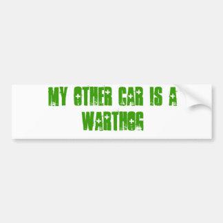 Mi otro coche es un warthog pegatina para auto