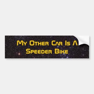 Mi otro coche es una bici del reductor de velocida etiqueta de parachoque