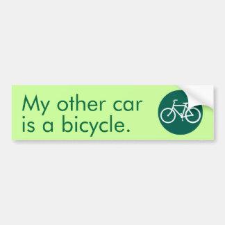 Mi otro coche es una bicicleta pegatina para auto